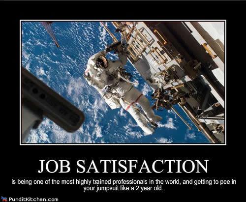 Job Satisfaction in space
